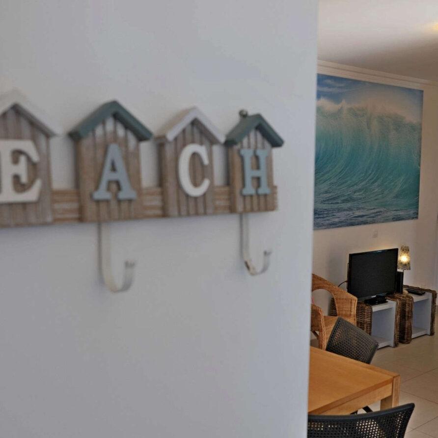 Beach Holiday apartment Portugal Solmar_living