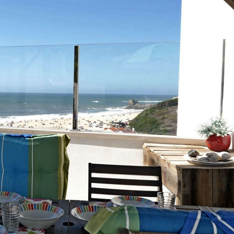 Beach and sea view from rooftop terrace_holiday portugal silvercoast