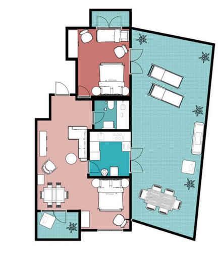 Holiday Portugal Silver Coast apartment SolMar floorplan 1