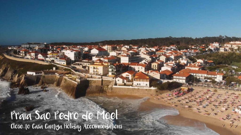 les plages de Sao Pedro de Moel, Portugal
