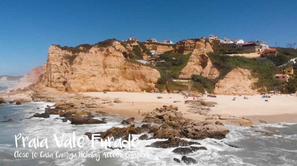 beach of vale furado silvercoast portugal