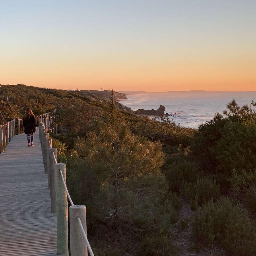 Sunset walks Holiday Portugal Nazare Paredes da Vitoria beach