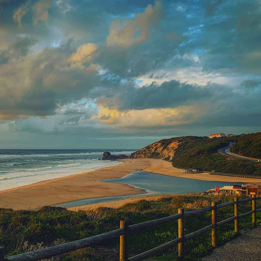 Winter holiday escape Portugal Silver coast beach Paredes da Vitoria