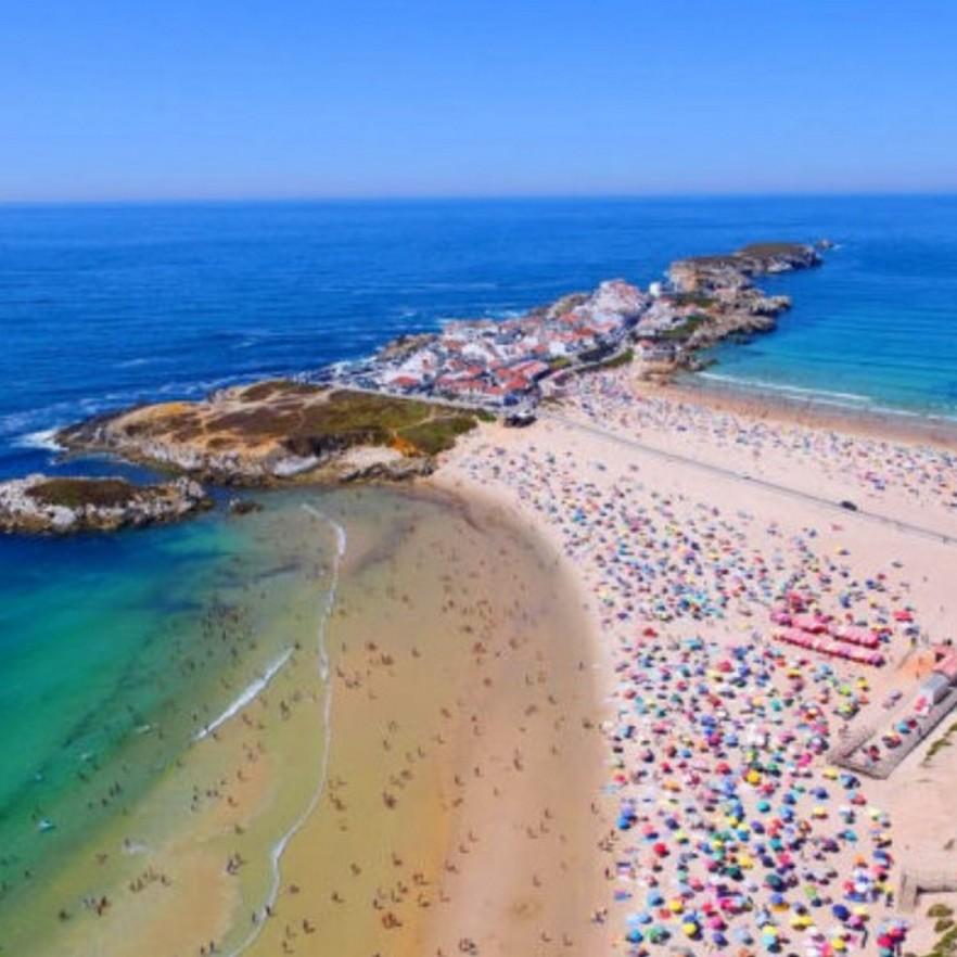 Plage Baleal,  côte argentée. Portugal