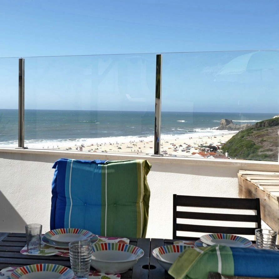 rooftop view from terrace holiday portugal silvercoast